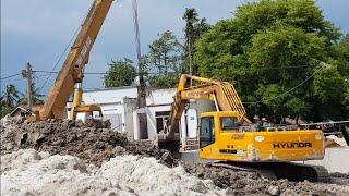 Máy Xúc Đất Và Xe Cần Cẩu Làm Việc | Excavator #17