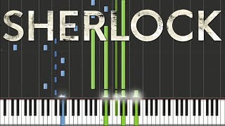 Sherlock BBC - Main Theme Piano Tutorial [100% Speed]