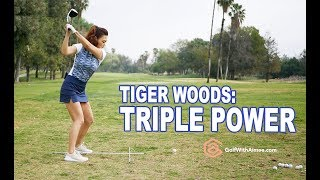 Tiger Woods - Triple Power Swing | Golf with Aimee