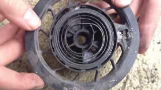 PushMowerRepair.com - Briggs 3.5HP Recoiling a Starter Spring