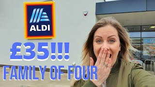 £35 ALDI GROCERY HAUL! WEEK OF MEALS FOR FAMILY OF 4! MEAL PLAN AND COME SHOPPING Lara Joanna Jarvis
