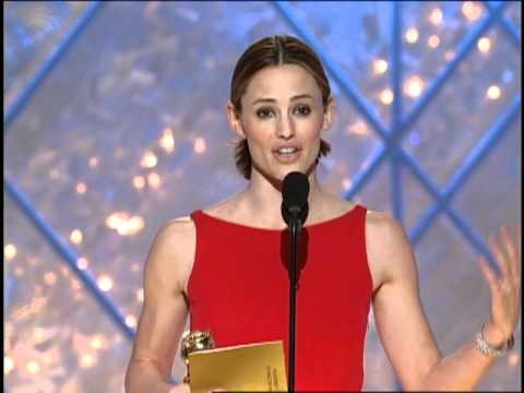 Jennifer Garner Wins Best Actress TV Series Drama - Golden Globes 2002