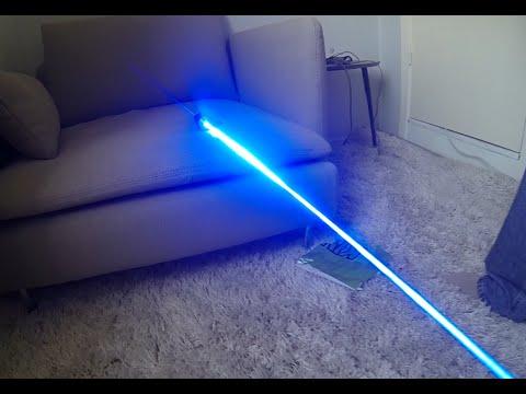 Powerful 4500mW Blue Laser Demonstration thumbnail