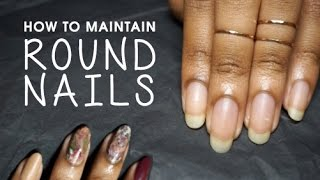 How to Maintain Round Nails + Holiday Inspired Dry Marble Nail Art Tutorial!