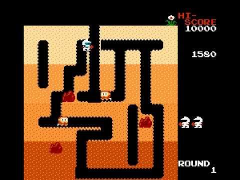 Dig Dug - Dig Dug Level 1 (NES) - User video