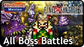 Final Fantasy VI/Final Fantasy III USA - All Boss Battles