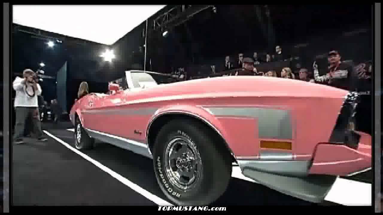 pink mustang playboy convertible mach boss