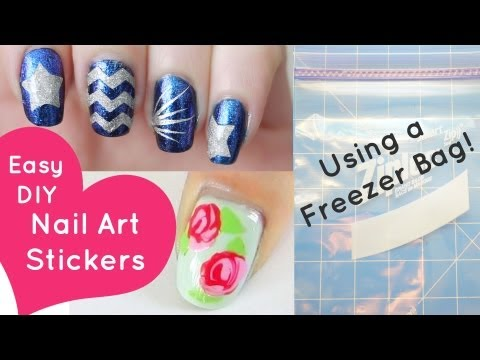Easy DIY Nail Art Stickers...Using a Freezer Bag!