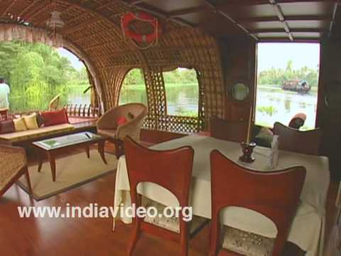 Cozy interior of a houseboat