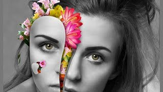 Photoshop Tutorial - How to Create FLORAL PORTRAITS