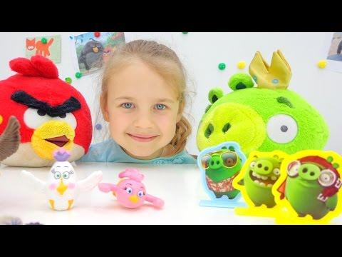 Игры Энгри Бердз смотреть ANGRY BIRDS видео для детей ангри бердс. Ксюша Дети и Родители