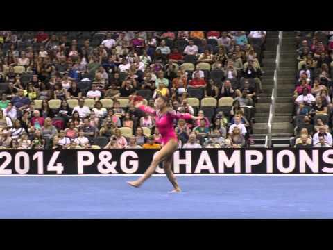 Kyla Ross - Floor - 2014 P&G Championships - Sr. Women Day 1