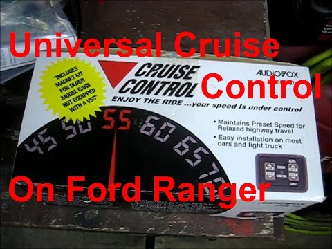 Installing Audiovox CCS-100 Cruise Control Kit on my 1993 Ford Ranger 2.3