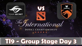 Secret vs TNC | The International 2019 | Dota 2 TI9 LIVE | Group Stage Day 3