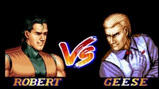 Art of Fighting 2 Robert Garcia vs. Geese Howard