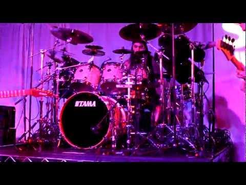 Mike Portnoy with Billy Sheehan, Tony McAlpine and Derek Sherinian - Sabian Live NAMM 2012