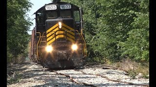 Train derailment on the ND&W Railroad