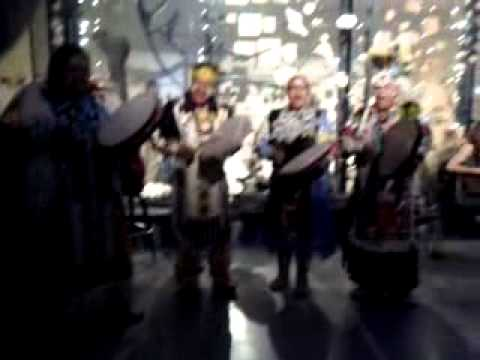 CLIFF EAGLE SINGERS at GRAND OPENING OF NATURAL HISTORY MUSEUM of UTAH 2011