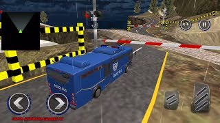 Police Uphill Bus Drive:Mega Bus Simulator - Police Bus Offroad Transport Android GamePlay FHD