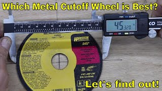 Which Metal Cutoff Wheel is Best?  Let's find out!