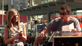 Adam Sandler hilarious speech to Jennifer Aniston