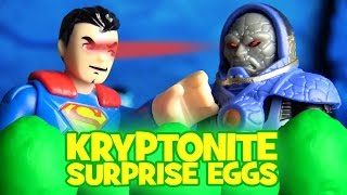 Superman Play-Doh Surprise Eggs | Superman vs Darkseid with Imaginext Batman Toys by KidCity