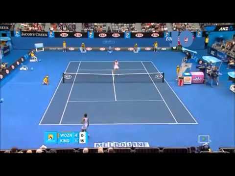 Caroline Wozniacki vs Vania King 2011 AO Highlights