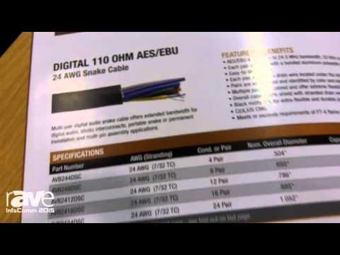 InfoComm 2015:Lake Cable Features Digital Audio Snake Cable, Digital 110 OHM AES/EBU