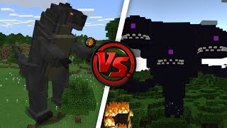 What Happens When GODZILLA Fights the WITHER STORM?!? (Minecraft Addon Battle)