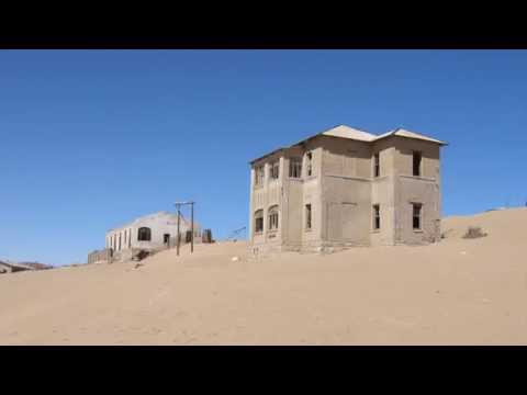 Loose Sand of Ghost Town Kolmanskop in Namib Desert, Namibia