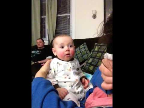 Baby scared of blowing nose