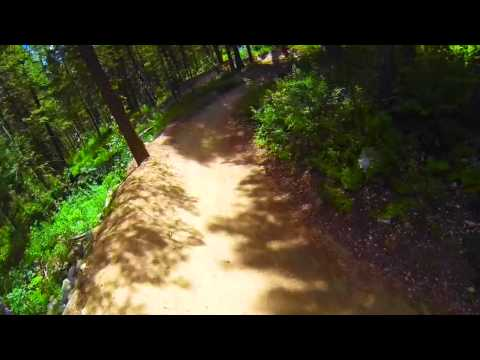 Jackson Hole: Mountain Biking Fail off a Jump - Gopro (HD)