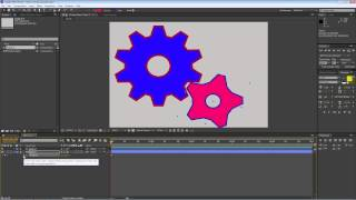 After Effects - Using the Merge Paths shape operator to combine shapes