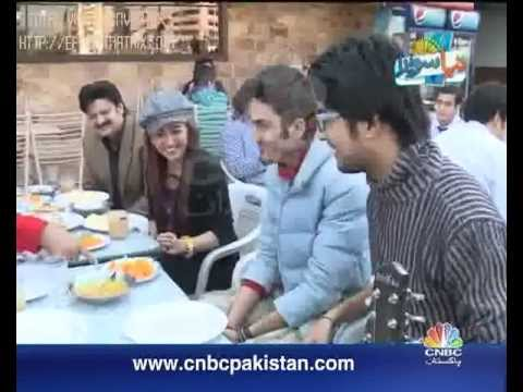 CNBC Pakistan Morning Show Naya Savaira Host Sana Amjad with ARSH THE BAND performing live