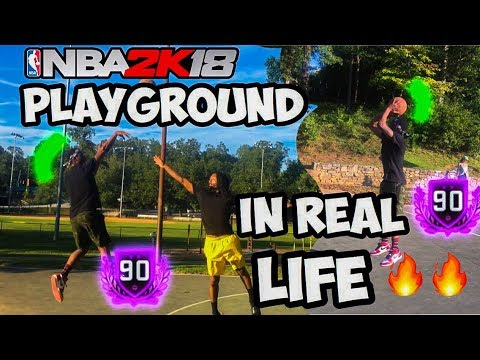 NBA2K18 PLAYGROUND IN REAL LIFE! GREENLIGHT JUMPSHOT ANIMATIONS AND MORE!