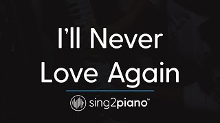 I 39 Ll Never Love Again Piano Karaoke Instrumental Lady Gaga
