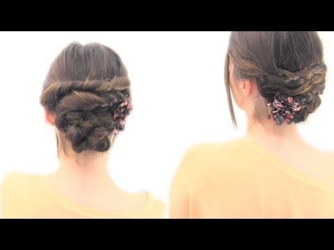 Dos recogidos f ciles youtube - Peinados faciles y rapidos paso a paso ...