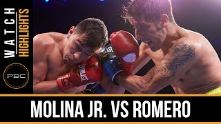 Molina Jr. vs Romero HIGHLIGHTS: Nov. 28, 2015 - PBC on NBC
