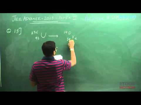 Physics iit jee advanced 2015 video solution paper 2 code 6