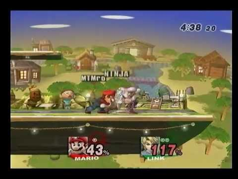 Brawl - E4UR Singles - MTMario (Mario, Snake) vs Ninja the Link Sage (Link) Pools