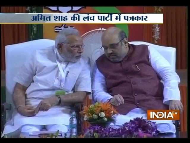 Amit Shah calls Press for lunch