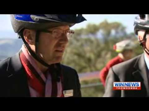 WIN news - Cycle Queensland tour centred around Toowoomba