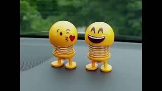 Ciferows Emoji Shaker Spring Bouncing Doll Car Smiley Doll Cute Emoji Bobble Head Dolls Toys
