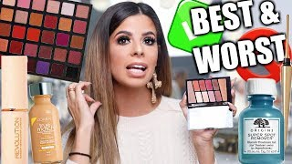 BEST AND WORST MAKEUP OF 2018 | DRUGSTORE AND HIGH END!!