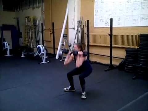Dumbbell Burpee Squat Clean Thruster