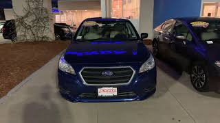 Cc here is a brief look at the 2017 Subaru Legacy 2.5i Lapis Blue Pearl