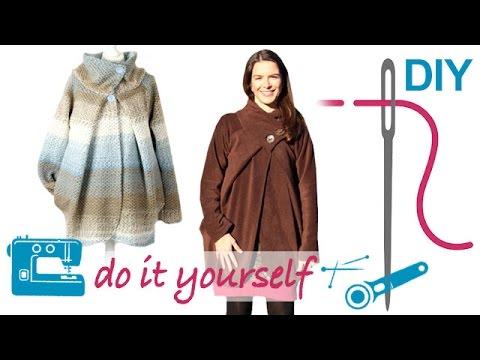 DIY Kleid nähen – mit Schalkragen oder Rollkragen – Zierstoff ...