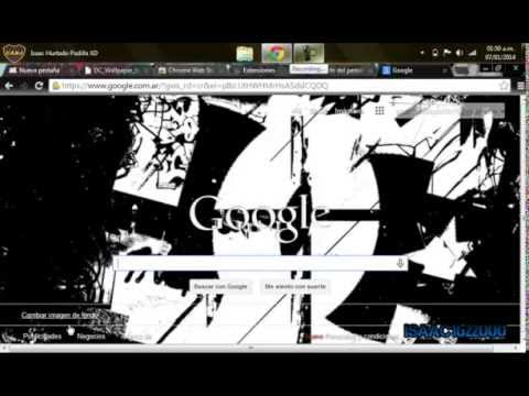 Como Poner Una Imagen De Fondo De Inicio De Google (2015)