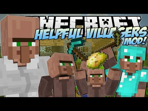 Minecraft | HELPFUL VILLAGERS MOD! (Create a Villager Army!) | Mod Showcase