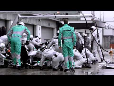 F1 2013 - Mercedes AMG - Pit stops & unsafe releases in Formula 1